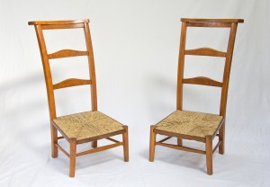 A pair of Prie Dieu chairs
