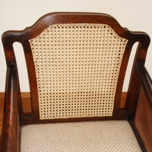 Caned chair after