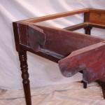 Pembroke table hinge joints after