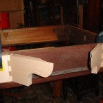 Pembroke table hinge joints during