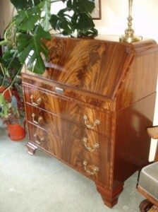 mahogany bureau 1930s after